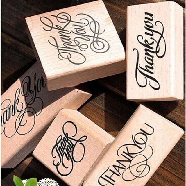 Новый деревянный прямоугольник штамп ремесло голосовали скрапбукинг спасибо любовь штампы бесплатная доставка