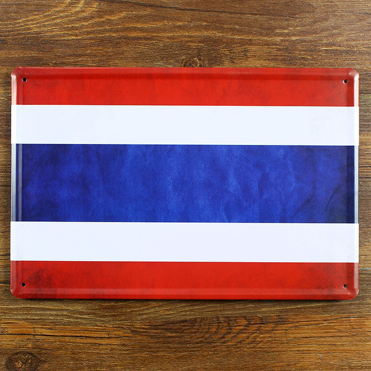 """Direct selling YRJJ-012 Vintage Metal painting """"A country flag"""" tin signs art wall stickers crafts cafe bar decoration 20x30 CM(China (Mainland))"""