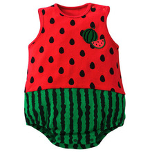 2016 Brand Baby Bodysuits Summer Newborn Cotton Body Baby Sleeveless Boys Girls Clothes 6 Color Hot Selling