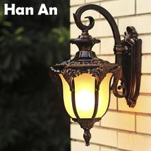 European American outdoor light E27 retro living room balcony patio waterproof wall lamp aisle villa country style(China (Mainland))