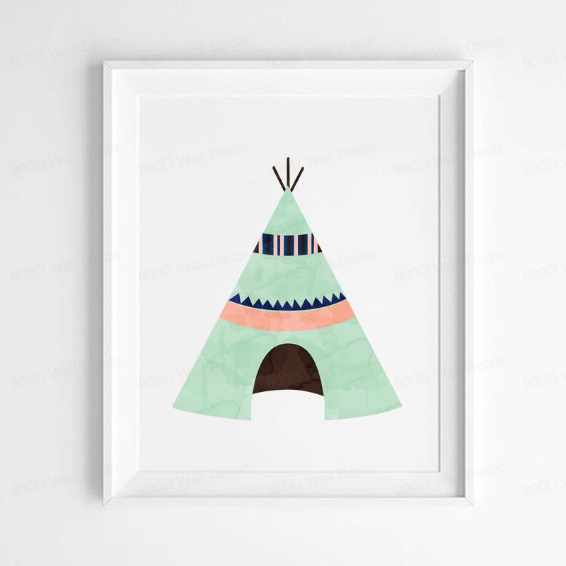Buy Cartoon Teepee Canvas Art Print Poster Wall Pictures For Home Decoration