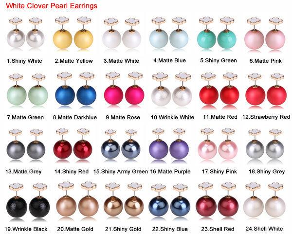 white clover earrings 1