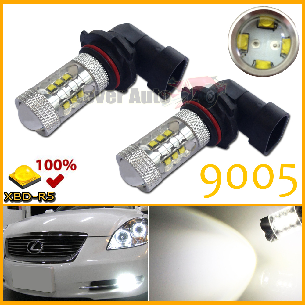 Free shipping 2pcs/lot 9005 9011 HB3 White 16 CREE High Power Max 80W LED Front Headlight Fog Light DRL Replacement Bulbs(China (Mainland))