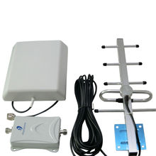 900MHz 70dB Signal Booster +Indoor and Outdoor Antenna + Black Cable Cell Phone Signal Repeater Amplifier Kit for GSM/3G Network