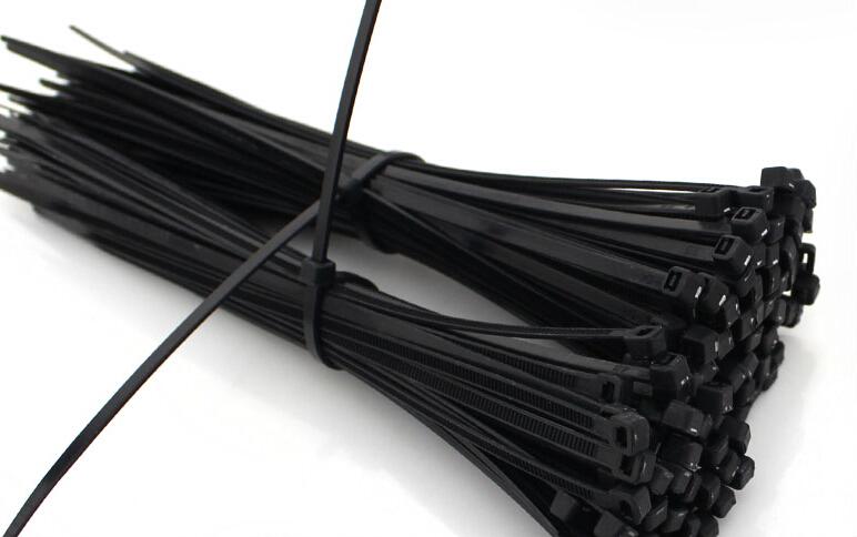 Гаджет  100Pcs 2.5 mm x 150 mm heavy duty  Black Self-Locking Plastic Cable Zip Ties Cable Loop Ties AE03841 None Электротехническое оборудование и материалы