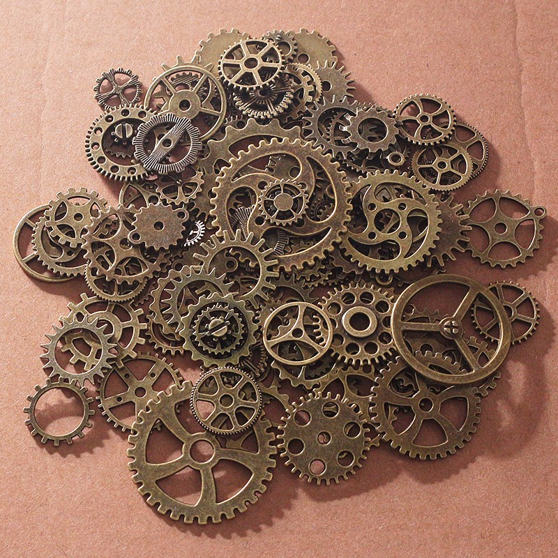 2017 wholesale vintage metal mixed gears charms for
