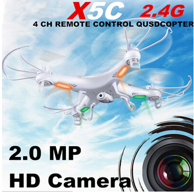 Syma X5C Explorers RC Quadcopter 2.4G 4CH 6axis gyro Remote Control RC Helicopter UFO With HD Camera RTF (Small Package)(China (Mainland))