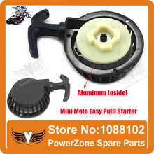 Aluminum Alloy  Pull starter Easy to Pull Fit 47cc 49cc 2 Stoke Mini Dirt  Pocket Pit Bike Moto ATV Quad Free Shipping(China (Mainland))