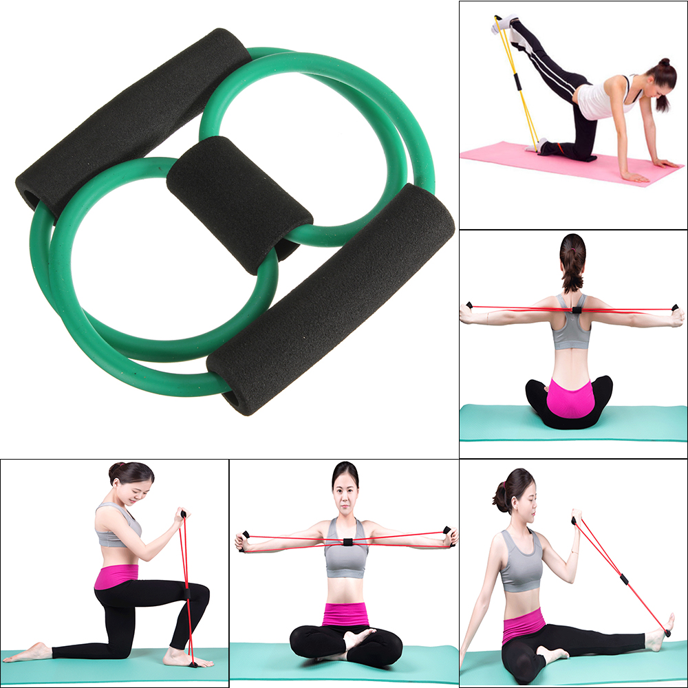 1pcs Home Exercise Body Weight Muscle Workout Stretch Training Resistance Band Tube Furniture Accessories(China (Mainland))