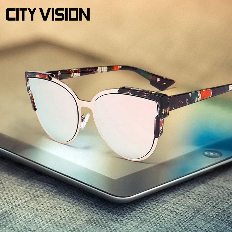 2016 Fashion Cat Eye Sunglasses Women UV400 Shades Female Coating Sun Glasses for Men Original Brand Eyewear Outdoor Accessories(China (Mainland))