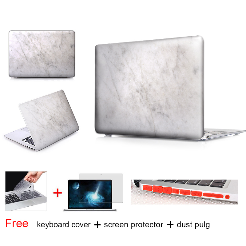 Marble Texture Laptop Accessories Hard Cases Cover For Macbook Pro 13 Case Pro 13 15 Retina Hp Laptop Protector Shell Skin(China (Mainland))