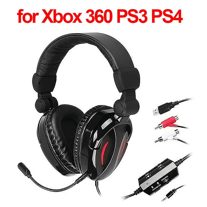 Brand 2.1 Channel Stereo Vibration Gaming Headset with Mic Professional Games Headphone for Xbox 360 PS3 PS4 Wii MAC TV PC Gamer(China (Mainland))