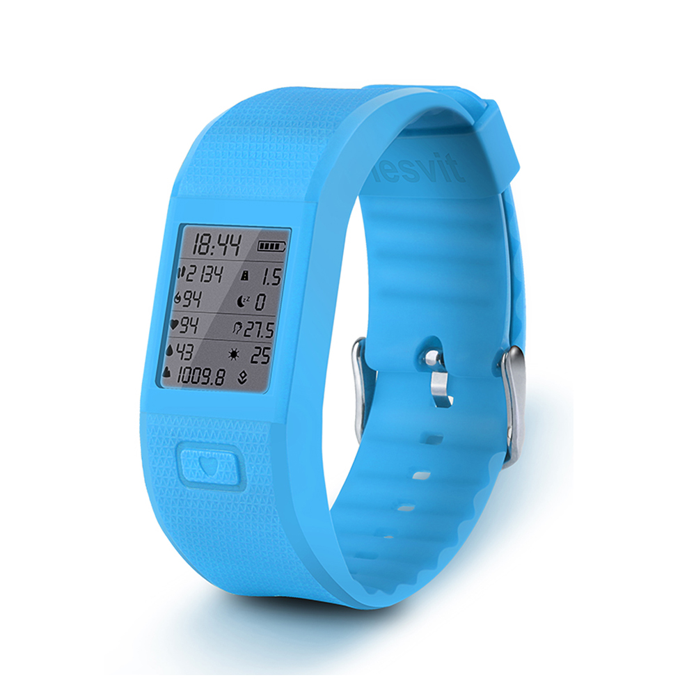 New Bluetooth 4.0 Smart Bracelet Hesvit S3 Sports Fitness Tracker Wristband with Heart Rate Monitor Wrist Temperature Display(China (Mainland))