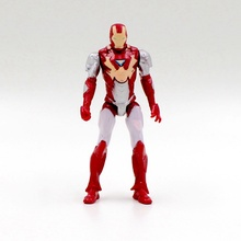 Free shipping 1pcs superhero Avengers Iron Man Hulk Captain America Superman Batman Action gift collection of children's toys(China (Mainland))