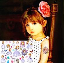 Sofia Princess Child Temporary Tattoo Body Art Flash Tattoo Sticker 17*10cm Waterproof Tatoo Car Styling Home Decor Wall Sticker(China (Mainland))