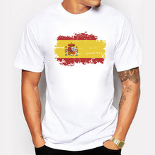 Buy Spain National Flag T shirts Men Fashion Short Sleeve Nostalgic Spain Fans 2017 Summer Games Cheer T-shirts for $7.01 in AliExpress store