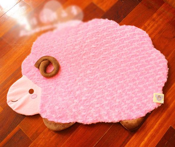 Pernycess Small sheep rose velvet -slip mats mats plush foyer home mats(China (Mainland))