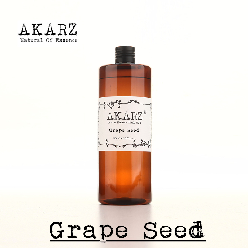 AKARZ Famous brand pure grape seed oil natural aromatherapy high-capacity skin body care massage spa grape seed essential oil(China (Mainland))