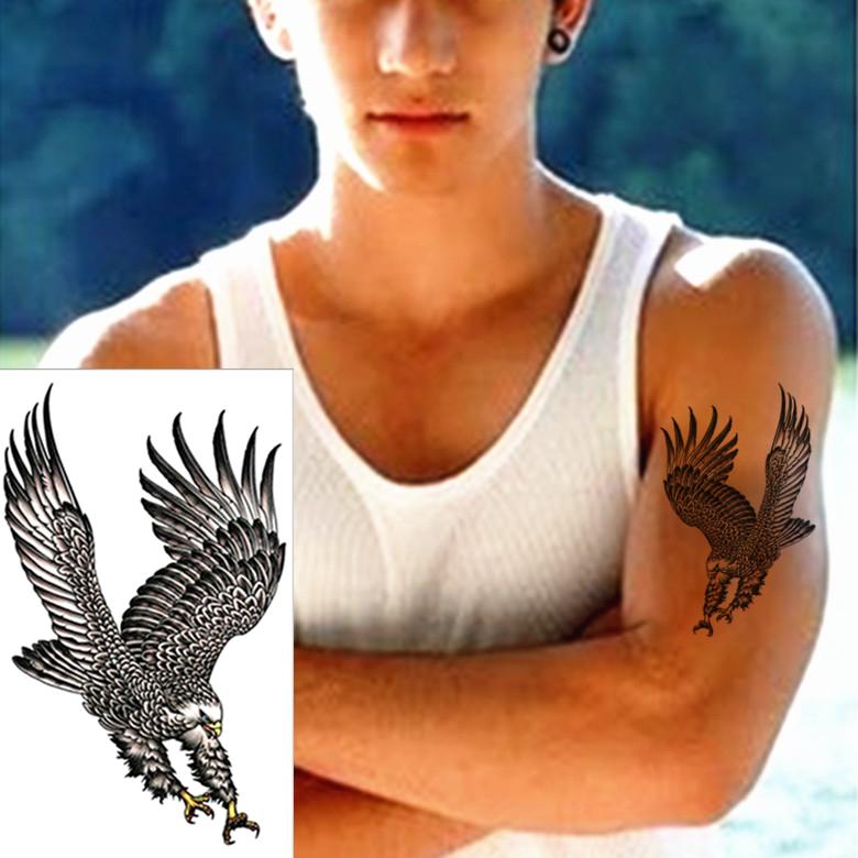 Airforce top gun eagle temporary tattoo body art flash for Best fake tattoos