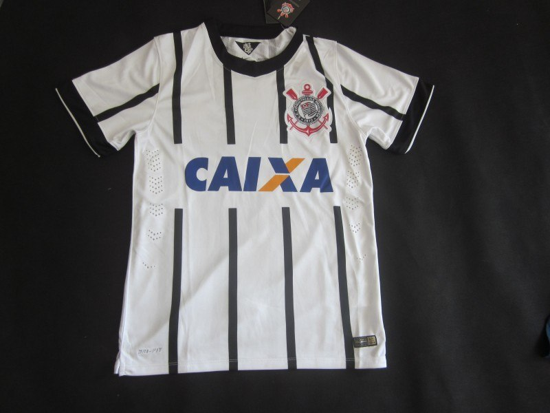 2015 SC Corinthians Paulista Soccer Jerseys 14 15 White Football Home GUERRERO Jadson far LODEIRO camisas de futebol shirt(China (Mainland))