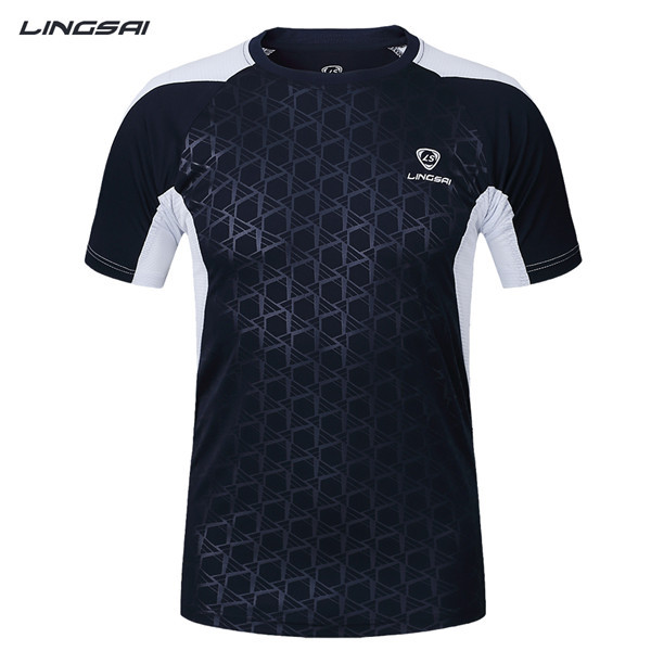 LINGSAI Solid summer men sport shirt gym male fashion singlet quick Dry Slim Fit running Tops & Tees Sport - Week 7 international shopping stores store