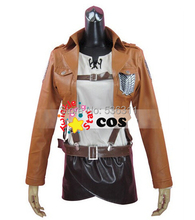 attack on titan cosplay costumes short leather Jacket Shingeki no Kyojin jacket Legion Cosplay Costume Eren Levi 2015
