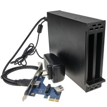 PCI-e 1X To 16x slots Extension Riser card 1 to 2 PCI-express adapter PCI express Sound Card Network card graphics card