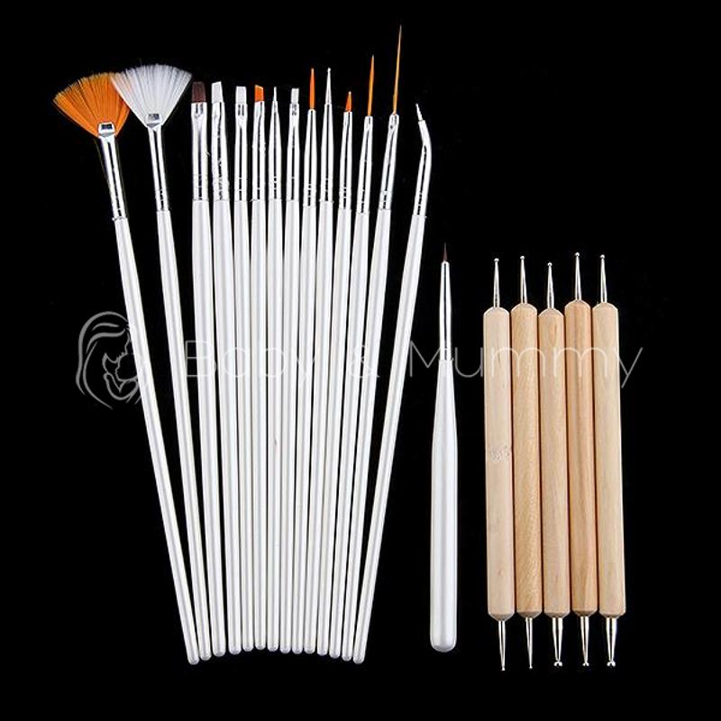20 Pcs DIY Pro Manicure Tool Nail Accessories Pen Brush Drawing Painting Liner Nail Brush Set Tool New Free Shipping(China (Mainland))