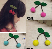 Multicolor  Felt Flower Cherry Shape Children headband Accessoriea Baby hairband Accessories  Brooch Flower Whithout clip