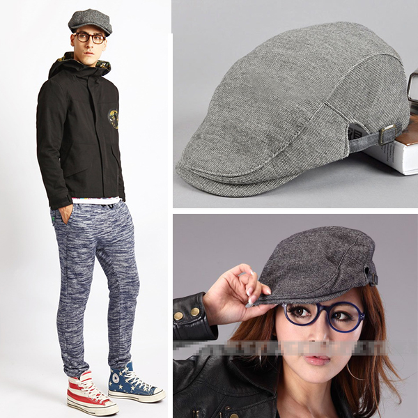 Free Shipping Fashion Unisex Men Women Solid Warm Classic Simple Winter Grey Hat Vintage Cap Beanie(China (Mainland))