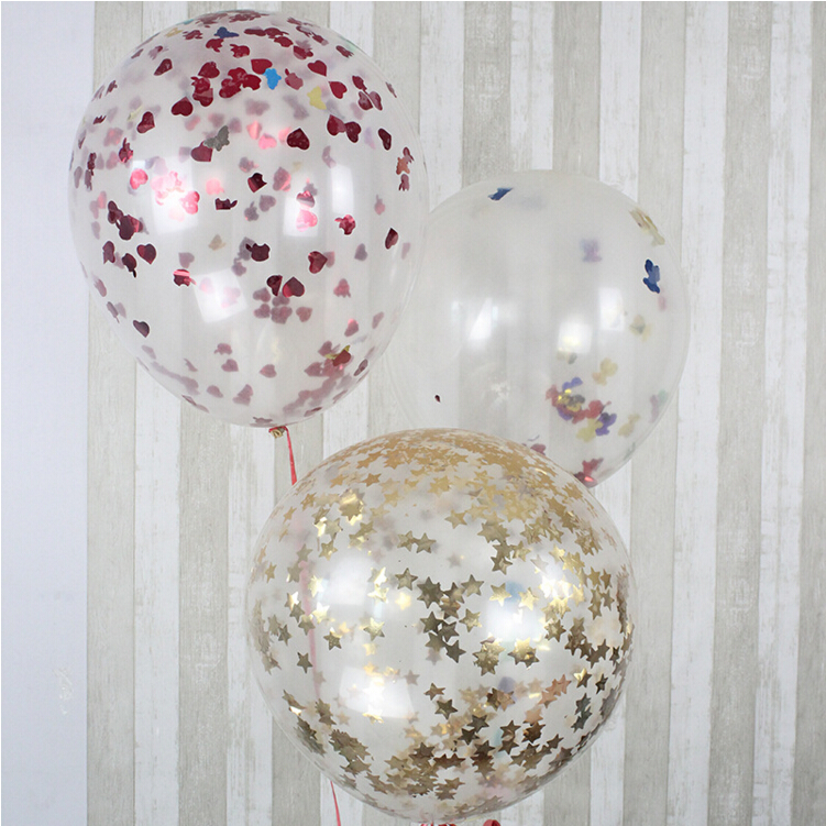 36 Inch Giant Transparent Confetti Party Balloon Blasting Balloons for Romantic Valentines Day Wedding Party Layout Decoration(China (Mainland))