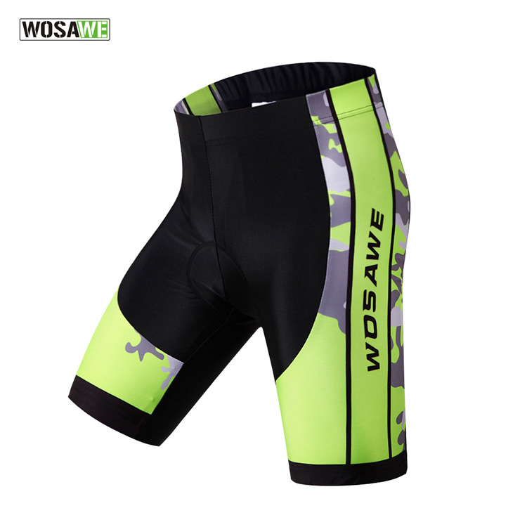 WOSAWE 3D Gel Padded Cycling Shorts Mountain Bike Riding Sport Bicycle Shorts Breathable Short Pants Fitness Ciclismo Clothing()