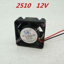 3pcs/lot 25x25x10mm 2510 mini 12 Volt Brushless DC Fans cooling cooler radiator Free Shipping(China (Mainland))