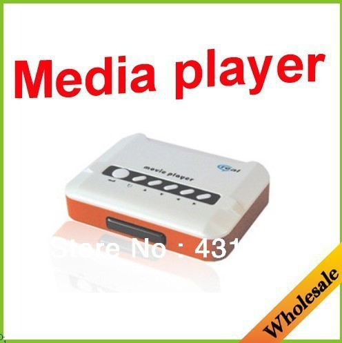Wholesale free shipping useful high-end fashion multi-function real media player,rm/rmvb/real movie player,AV media hd player.