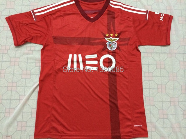 benfica 14/15 season new benfica home red soccer jersey Free Shipping have store goods 2 days to deliver goods Thailand Quality(China (Mainland))