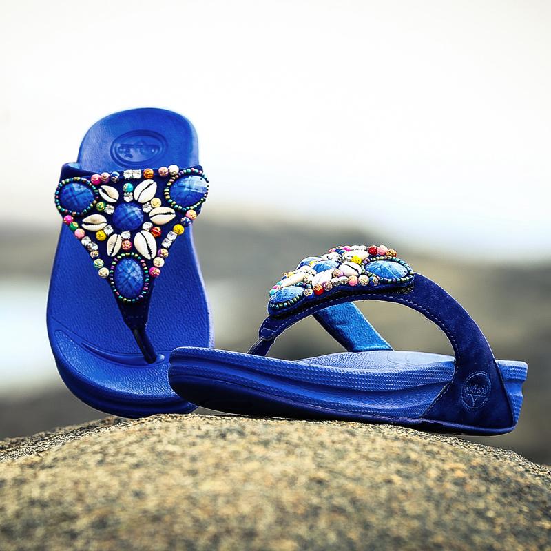 Women's Sandals 2015 Fashion Summer Style Lady Beach Shell Flip Flops Woman Leisure Comfortable Slipper Shoes platform Sandals(China (Mainland))