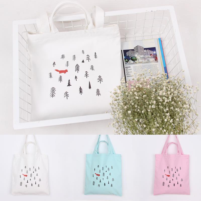 2016 Large reusable grocery tote bag big foldable shopping bag canvas cotton ecobag Leisure Daily Beach Bag(China (Mainland))