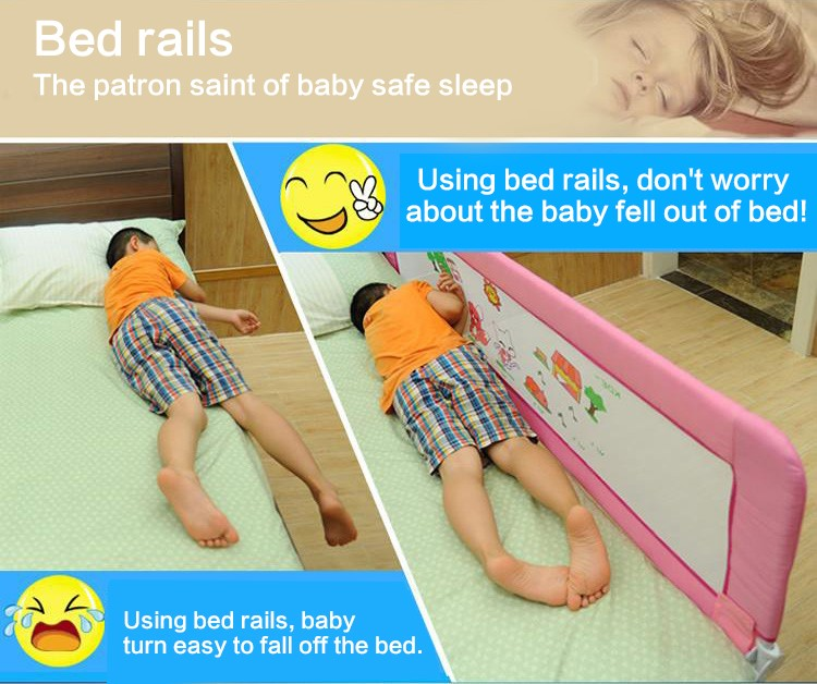 fencing for children 1.5 meters baby safety bed guard with the button child safety fence  baby bed rails guardrail for bed