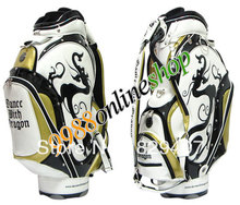 "HOT 2013 NEW golf bag BANCE WITH DRAGON golf cart bag. black/White""or""Red White 9.5inch,clubs.Free shipping(China (Mainland))"