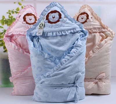 Detachable Winter Coral Fleece Baby Blankets Gall Bladder, Increase Thick Warm Baby Sleeping Bags, Cat Patterns Have Been(China (Mainland))