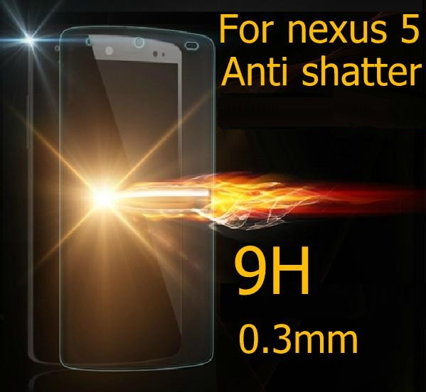 Ultra-thin 0.2mm 2.5D Premium Tempered Glass Protector Film For Google LG Nexus 5 E980 Anti-shatter Screen Lcd protective films(China (Mainland))