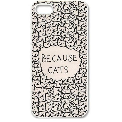 Fashion Girls Brand New Animal Cat Design Hard Plastic Back Mobile Phone Case Cover Iphone 4 4S 5 5S 5C 6 Plus - ShoppingCenter store