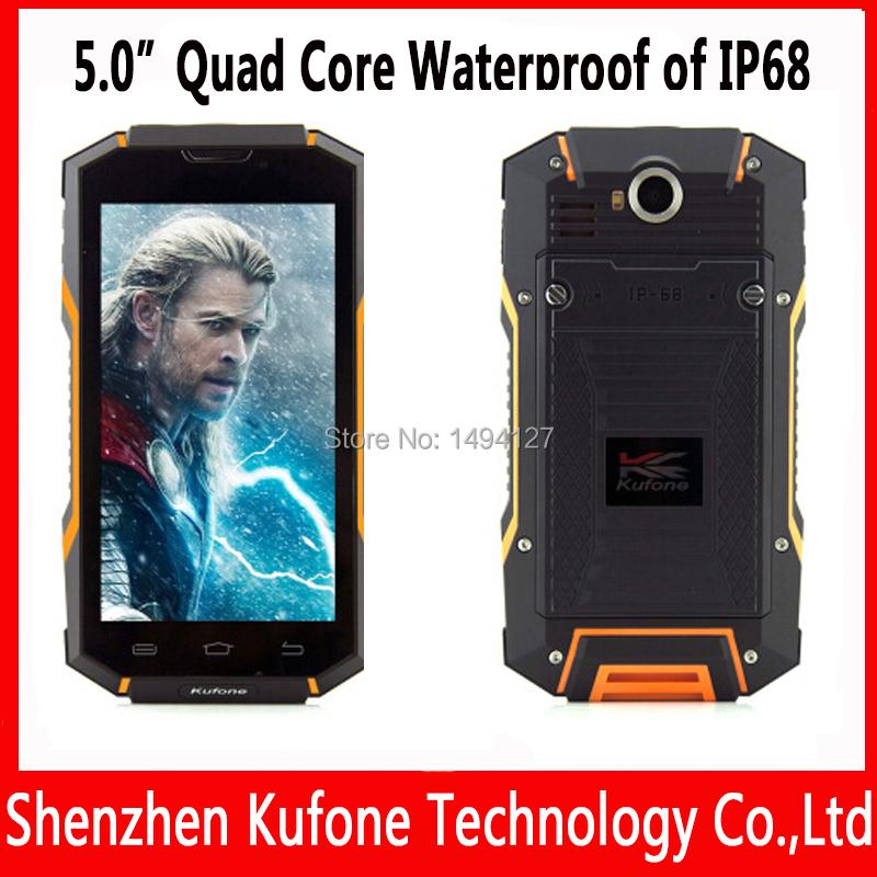 New arrival A17C original quad core 1g ram 8g rom 5 inch otg waterproof ip68 dual sim gsm cdma 2000 cellular smartphone(China (Mainland))