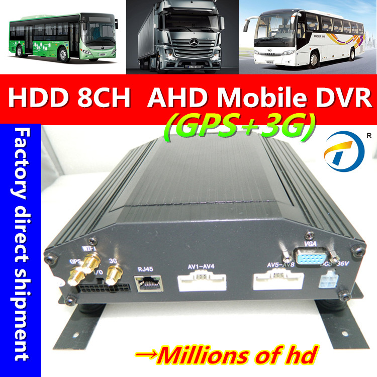 3 g / 4 g GPS 8 CH AHD 720P car hard disk video recorder support truck school bus etc .(China (Mainland))