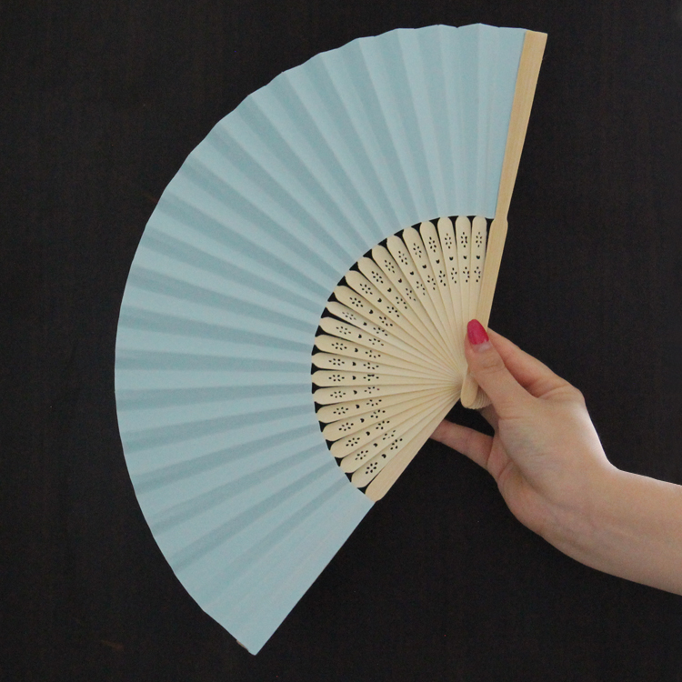 Free Shipping 21cm Beautiful Solid color Japanese Style Single Side Paper Folding Fan Bamboo Fans Wedding Hand Held Fans GYS914(China (Mainland))