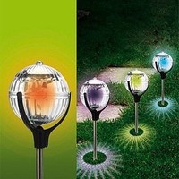 Globe solar lawn lights  garden ventress lamp hanging lamp  2pcs/lot Free shipping