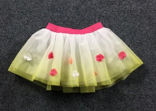 2016 New girls baby Stereo flowers Colours spliced gauze skirts Princess child Short skirt  wholesale<br><br>Aliexpress