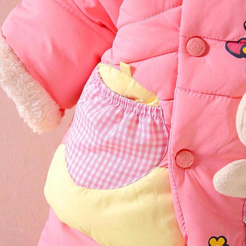 Скидки на НОВАЯ Зимняя Детская Одежда Для Девочек Куртка Мода Точка Пальто Толщиной Теплое Пальто + Теплые Брюки Верхняя Одежда Куртки Хлопка Детская Одежда наборы