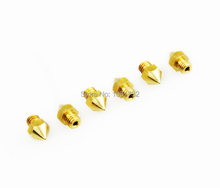 Hot Sale 10PCS Lot Reprap Prusa i3 3D Printer 0 4mm Extruder Brass Nozzle Print Head