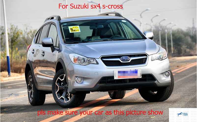 For Subaru XV Impreza Hatchback 2012 2013 Stainless steel Front Center Grill Grille Trim 2pcs / set<br><br>Aliexpress
